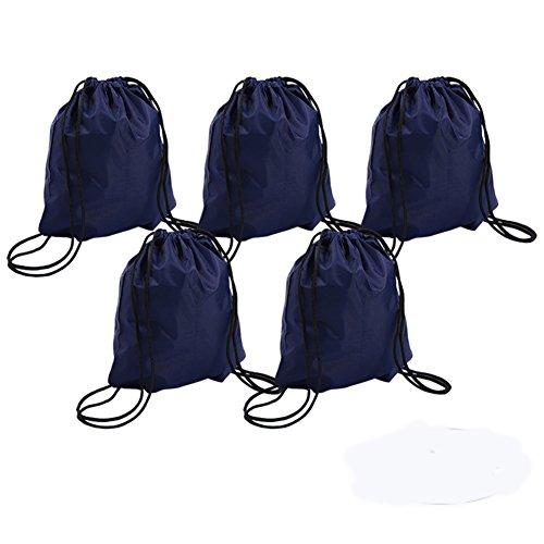 Bonaweite Drawstring Bag Folding Sport Backpack Canvas Nylon Gym Training Sackpack Storage Portable Use