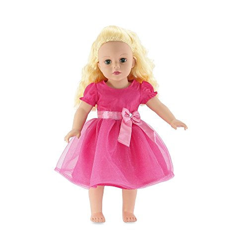18 Inch Doll Clothes | Beautiful Jeweled Pink Easter Doll Dress | Fits American Girl Dolls