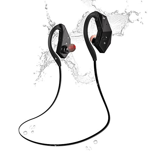 Sport wireless Bluetooth Headphones Waterproof IPX8 [8GB MP3 Player, USB Drive ] Bluetooth 4.1 AptX HiFi Stereo Earphones earbuds Built-in Mic Olycism Sweatproof Noise Cancelling Tech (The newest)