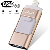 USB Flash Drives Compatible iPhone/iOS 128GB [3-in-1]...