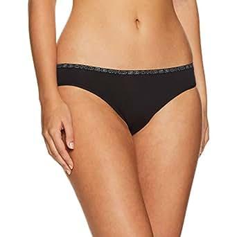 Bonds Women's Underwear Hipster Bikini Brief, Black, 12 (1 Pack)