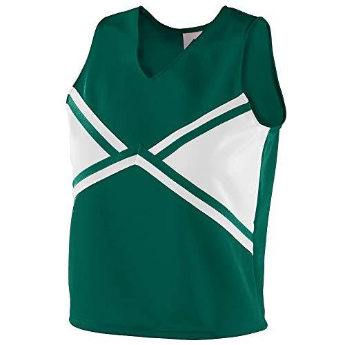 Augusta Sportswear Girls' Explosion Shell M Dark Green/White