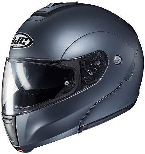 HJC Solid Men's CL-MAX 3 Modular Street Motorcycle Helmet - Semi Flat Anthracite/X-Large ()