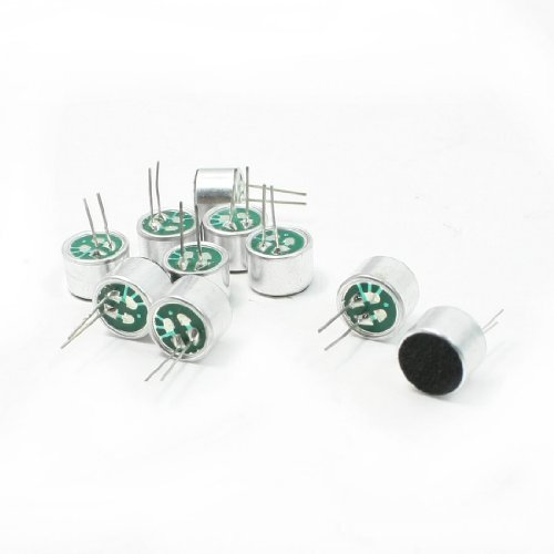 1 Piece Omni Directional PCB Mount 9.7mm Condenser Microphone Electret, 50 To 16000Hz 41dB (Omni Directional Instrument)
