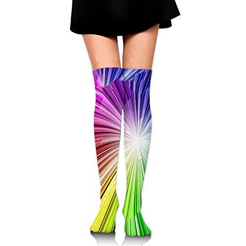 写真ファンタジーログ多彩な図案 ストッキング サイハイソックス 3D デザイン 女性男性 秋と冬 フリーサイズ 美脚 かわいいデザイン 靴下 足元パイル ハイソックス メンズ レディース ブラック