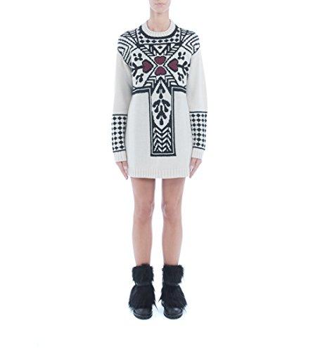 Maxi maglione I'M Isola Marras a girocollo bianco Blanco