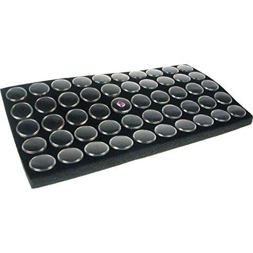 FindingKing Black Gem Jar Jewelry Tray Insert Gemstone Display Clock Parts Unit
