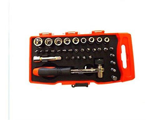 ToolTech - Juego de puntas para atornillador (con llave de chicharra ...