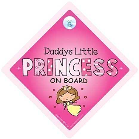 Suction Cup car Sign by iwantthatsign.com® Baby on Board car Sign Baby on Board Sign Powder Pink with Big Text