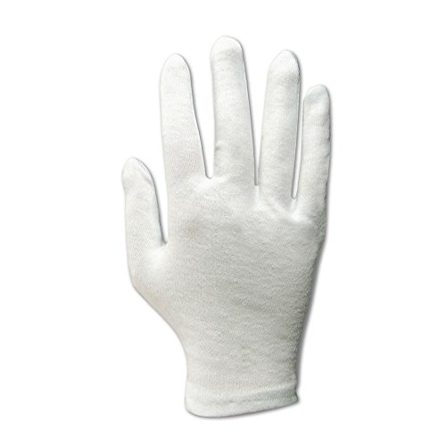 Magid Safety TouchMaster 681H Glove | Cotton Inspection Gloves - Large, White (12 Pairs)
