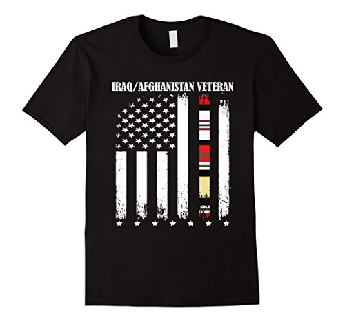 Proud Iraq Afghanistan Veteran Flag T-Shirt