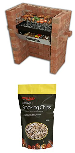 Holland Plastics Original Brand The Original Bar Be Quick Build In Grill & Bake + Pack Of Whisky Smoking Chips by Holland Plastics Original Brand