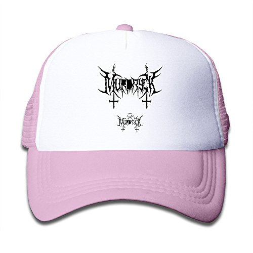 Murdryck Black Metal Logo Child Adjustable Snapback Mesh Hat Pink ()