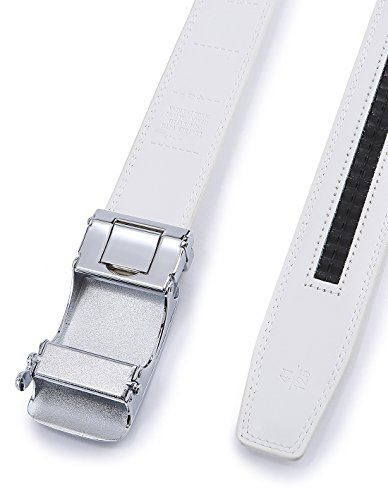 Bulliant Uomo Automatico Regolabili 35mm Cintura Bianco01 Pelle Per dimensioni wwSHA7nqrU