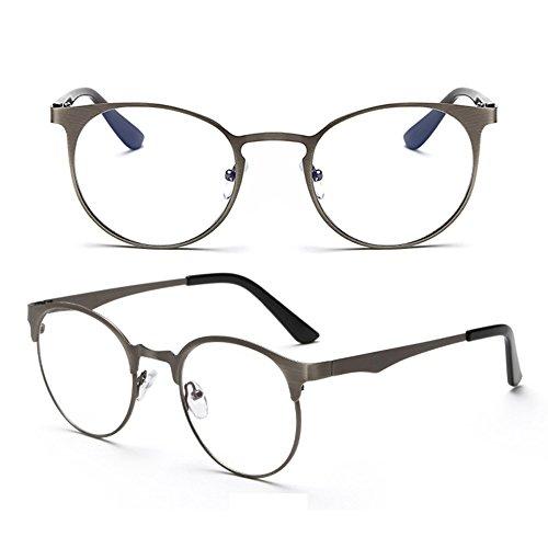 force conception verres Gray sans de lunettes lentille simple Dark Armature Verres mode de en de de de Delaying de conception frontière anti métal de bleus q6pwSBx