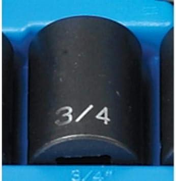 "12 Point Socket Grey Pneumatic 2124D 1//2/"" Drive x 3//4/"" Deep"