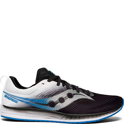 Saucony Men's Fastwitch 9 Road Running Shoe, Black/White, 9 M US