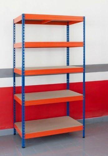 Estanteria metalica ar storage 192x100x50cm 5 estantes 300kg ...