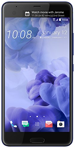 (HTC U Ultra 64GB Unlocked GSM Android 7.0 with HTC Sense Smartphone Sapphire Blue (Dual-Display | 16MP+12MP Cameras | 3D Audio))