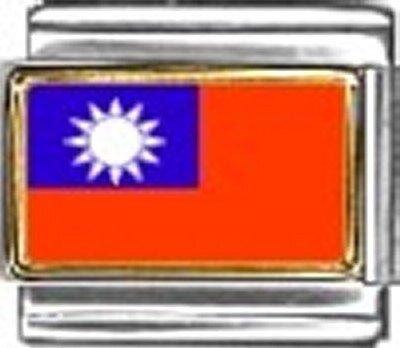 Taiwan Photo Flag Italian Charm Bracelet Jewelry - Photo New 9mm Italian Charm