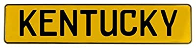 Vintage Parts 547613 Yellow Stamped Street Sign Mancave Wall Art (KENTUCKY )
