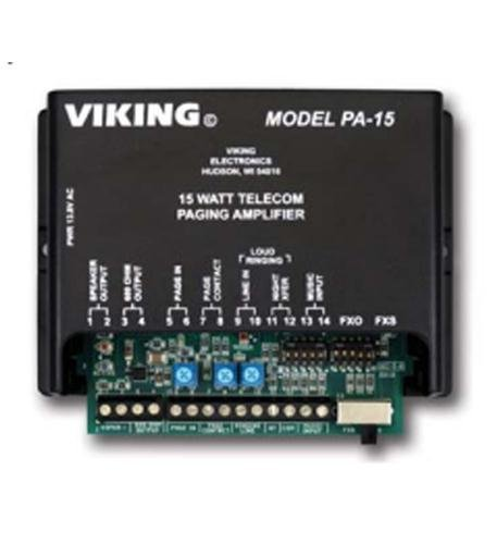 VIKING ELECTRONICS 15 Watt Paging Amplifier and Loud Ringer / VK-PA-15 / by (Viking Electronics Amplifier)