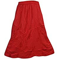 Women's Sexy Skirt Red GYPSY Boho Medieval Skirts