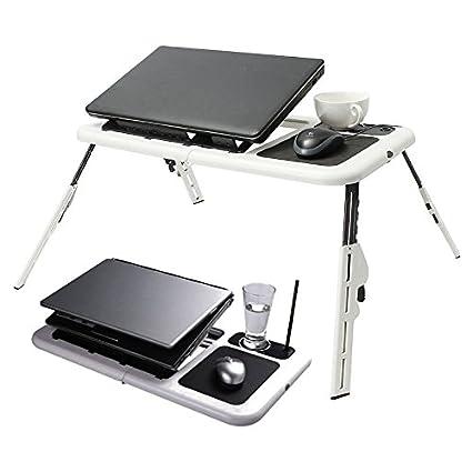 Ajustable mesa para ordenador portátil plegable portátil escritorio bandeja con ventilador y USB