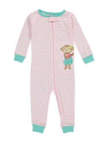 - Carter's Baby Girls' 1-Piece Snug Fit Footless Cotton Pajamas (18 Months, Pink/Hula Monkey)