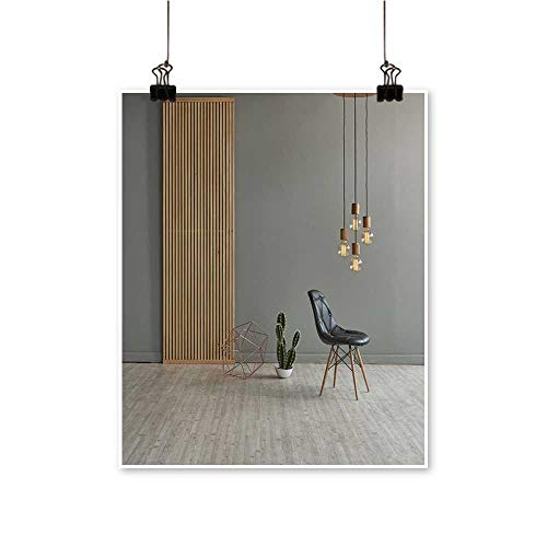 (Modern Painting Gray Win Front Wooden Separator Pend t lamp Texture woo Laminate Floor Bedroom Office Wall Art Home,24