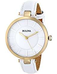 Bulova Womens 97L140 Stainless Steel Watch with Leather Band