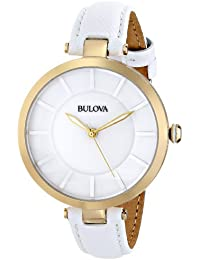 Women's 97L140 Stainless Steel Watch with Leather Band