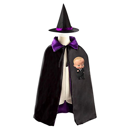 Ted The Movie Hat Adult (Children The Boss Baby Movie Halloween Christmas Cape With Hat Witch Cloak Costume Props)