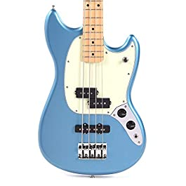 Fender Player Mustang Bass PJ Lake Placid Blue w/3-Ply Mint Pickguard (CME Exclusive)