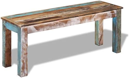 Daonanba Unique Vintage Style Bench Stable Sturdy Wooden Bench Full Handmade Home Furniture