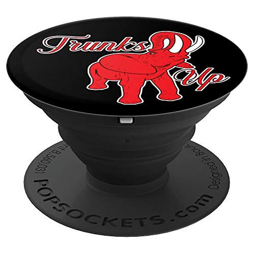 (Elephant Delta Trunks Up 1913 Sigma Red Theta 2 - PopSockets Grip and Stand for Phones and Tablets)