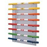 FAB101642 - Fabrication Enterprises, Inc. Wall rack for exercise weight bars, 8 bar horizontal