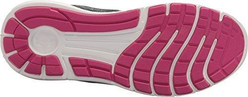 Under Armour Women's Remix Running Shoes (8 B(M) US, Black/White/Tropic Pink)