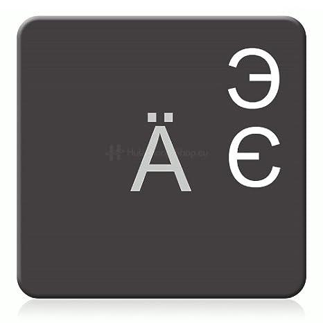 Surface Mate lamin/ée. Transparent Clavier Autocollant Russe
