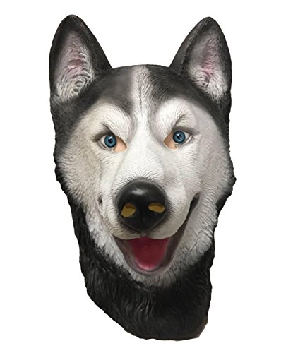 HUSKY Dog , HUSKY Mask , Animal Mask , Costume, Dog Mask , Wolf, Latex , Full (Latex Wolf Mask)