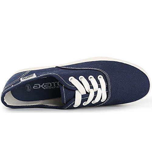 Alexis Leroy - Zapatillas clásicas de tela para mujer Azul