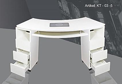 SNC KT-03-5 - Mesa para manicura (con aspirador de polvo): Amazon ...