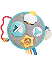 Taf Toys Mini Moon Activity Center for Babies. Baby's Activity and Entertaining take-Along Center. Soft Colors to Keep Baby Calm, Plenty of Fun Activities That aid to Develop Baby's Motor Skills