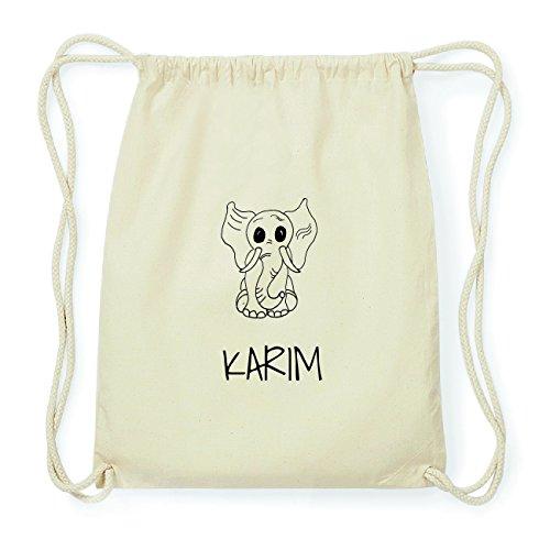 JOllipets KARIM Hipster Turnbeutel Tasche Rucksack aus Baumwolle Design: Elefant