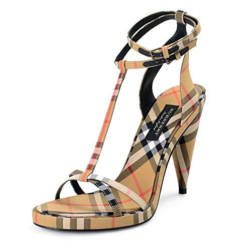 "BURBERRY ""London Women's Canvas Check Ankle Strap High Heels Sandals Shoes Sz US 11 IT 41"