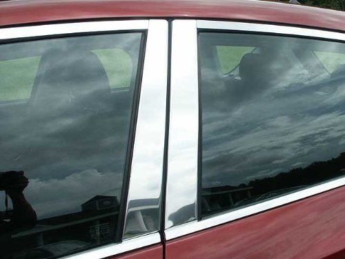 QAA FITS Mazda 3 2004-2009 Mazda (4 Pc: Stainless Steel Pillar Post Trim Kit, 4-Door, 5-Door, Hatchback) ()