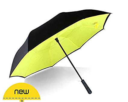 81d8d4bf9dfb Generic Reverse Umbrella Creative Straight Handle Double-Layer ...