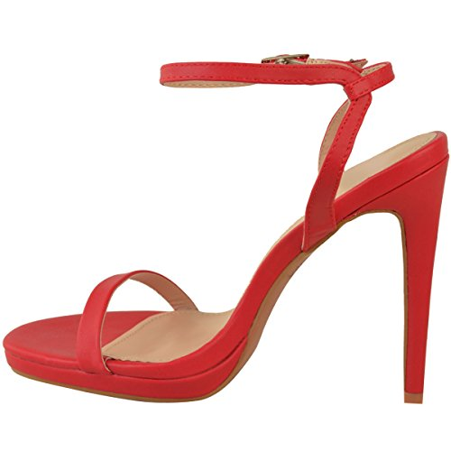 Faux Heels Platform Barely Stiletto High There Thirsty Leather Fashion Size Womens Red Party Shoes Sandals xY1OOI