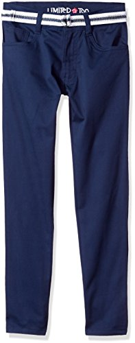 Limited Too Big Girls' Twill Pant (More Styles Available), EZ Stretch Skinny Navy-CAFG, 10 (Stretch Twill Pants Uniform)