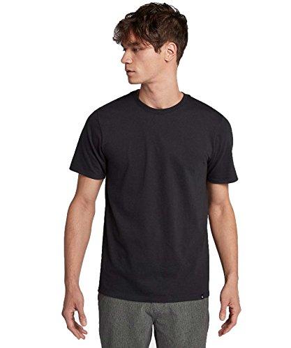 (Hurley Men's Premium Cotton Staple Short Sleeve Tee Shirt, Black,)